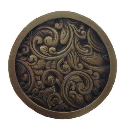 Knob, Saddleworth, Antique Brass