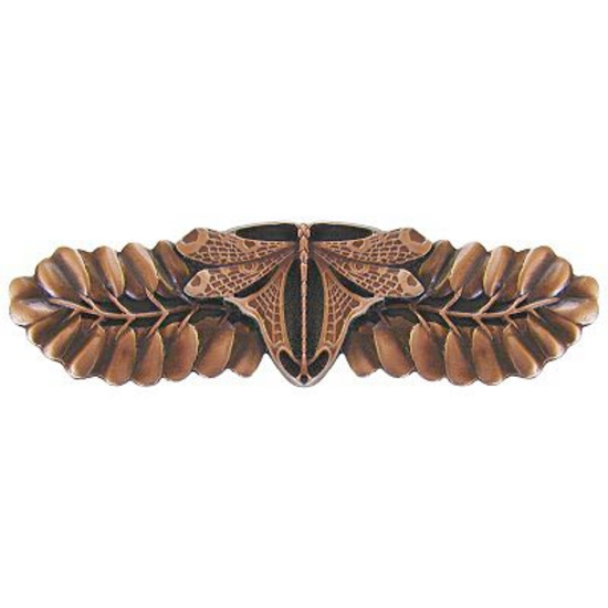 Pull, Dragonfly, Antique Copper
