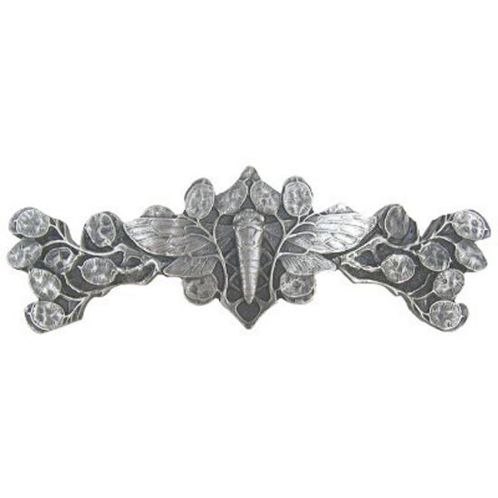 Cicada on Leaves - Pulls, Antique Pewter