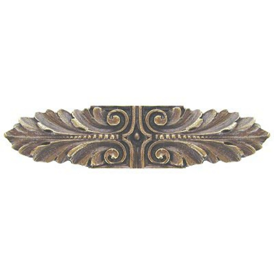 Pull, Opulent Scroll, Antique Brass