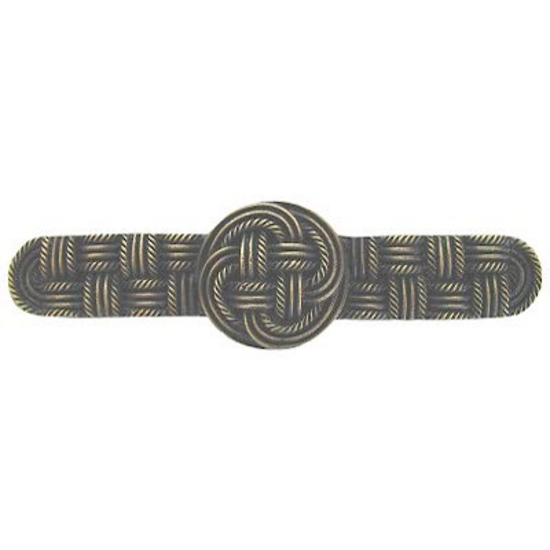 Pull, Classic Weave, Antique Brass