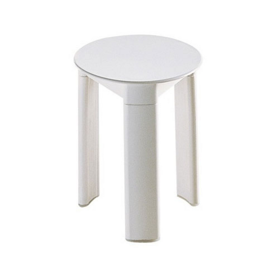 "Nameeks Three-legged Bathroom Stool, 12-9/10"" L x 15-7/10"" W x 0"" H, White"