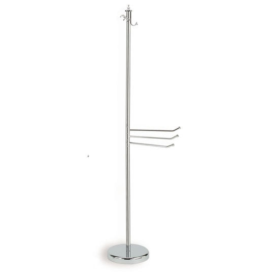 Brass Robe and Towel Stand