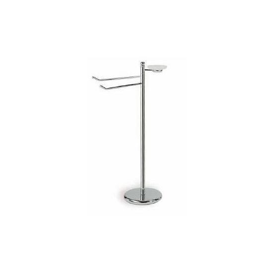 Nameeks Free Standing Upright With 2 Towel Holders And Soap Dish 35