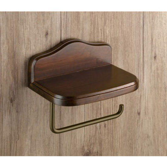 Nameeks Wall Mounted Wood Toilet Paper Holder With Cover