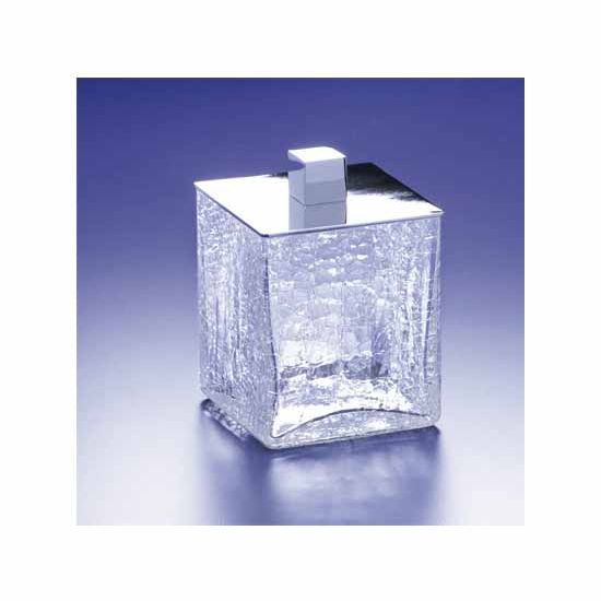 Nameeks Windisch Crackled Glass Q-Tip Jar
