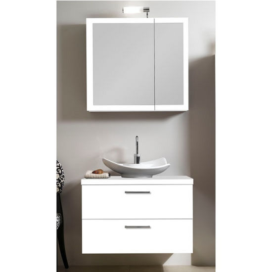 Aurora A15 Wall Mounted Single Sink Bathroom Vanity Set Includes Main Cabinet Wooden Top