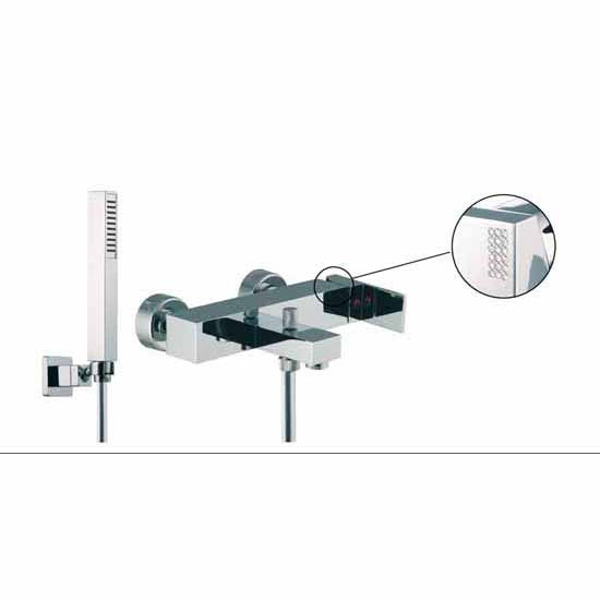 Nameeks Fima Wall Mounted Tub/Shower Mixer With Rainhead And Hand Shower Set