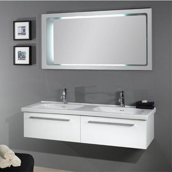 Fly Fl2 Wall Mounted Double Sink Bathroom Vanity Set