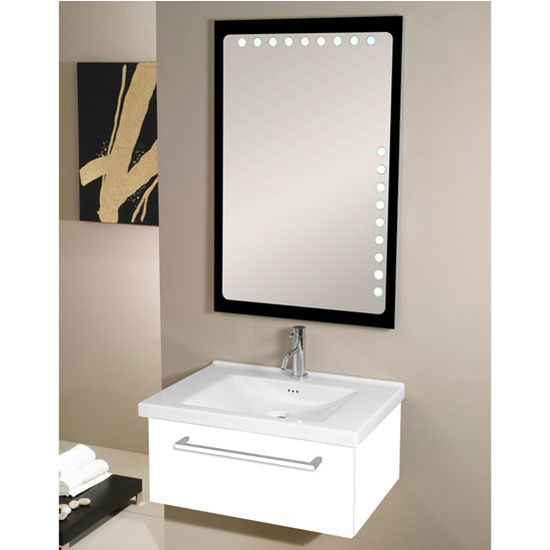 Fly Fl4 Wall Mounted Single Sink Bathroom Vanity Set Includes Main Cabinet Sink Top And