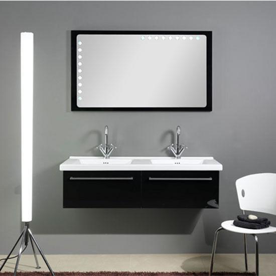 Fly Fl5 Wall Mounted Double Sink Bathroom Vanity Set