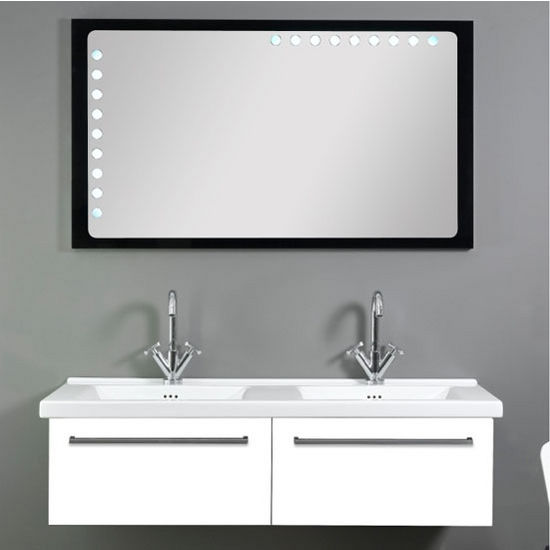 Saturn 88 Double Bathroom Vanity Set with Mirror