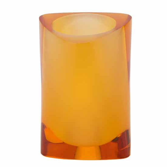 Nameeks Gedy Twist Collection Toothbrush Holder, Amber