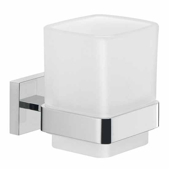 Nameeks Gedy Elba Collection Toothbrush Holder, Chrome