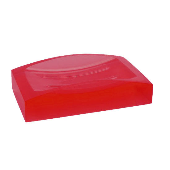 Nameeks Gedy Antares Collection Soap Dish, Ruby Red