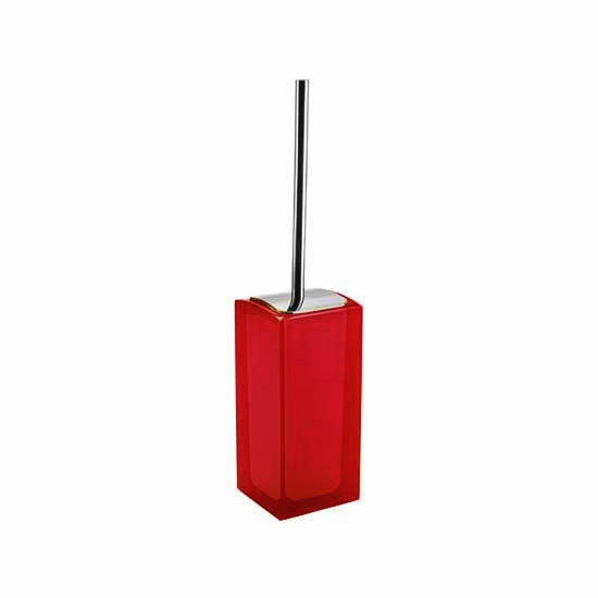 Nameeks Gedy Antares Collection Toilet Brush, Ruby Red