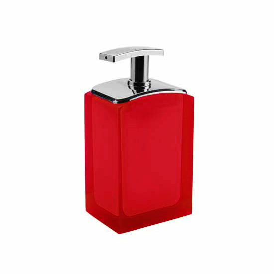 Nameeks Gedy Antares Collection Soap Dispenser, Ruby Red