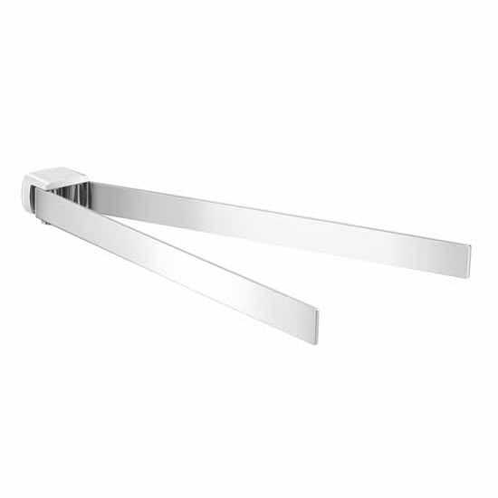 Nameeks Gedy Pirenei Collection Double Towel Bar, Chrome