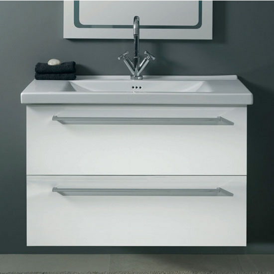 Fly Fl6 Wall Mounted Single Sink Bathroom Vanity Set Includes Main Cabinet Sink Top And