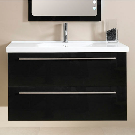 Fly FL7 Wall Mounted Single Sink Bathroom Vanity Set (Includes: Main ...