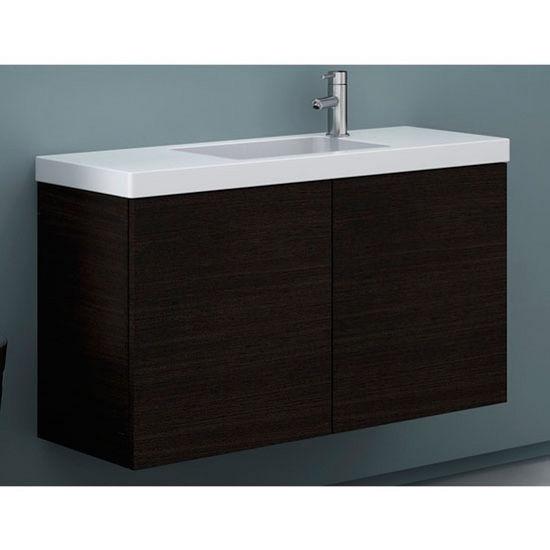 Happy Day Hd03 Wall Mounted Single Sink Bathroom Vanity Set Includes Main Cabinet Sink Top
