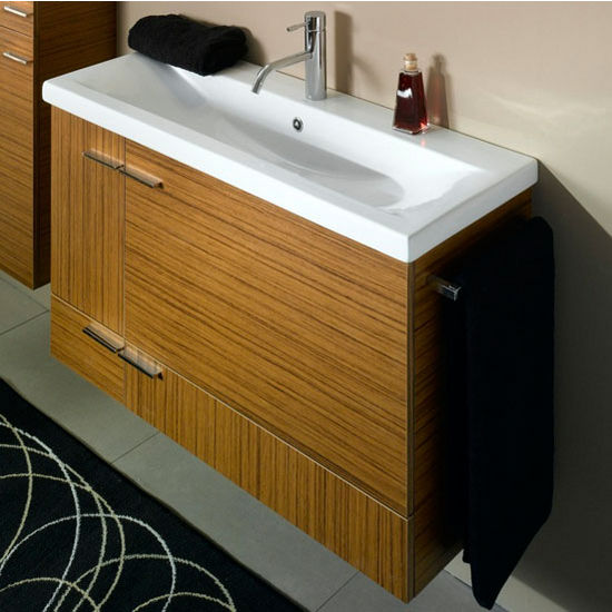 Simple Ns1 Wall Mounted Single Sink Bathroom Vanity Set