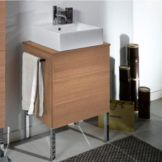 Time Nt8 Wall Mounted Single Sink Bathroom Vanity Set Includes Main Cabinet Wooden Top Sink