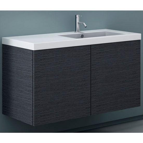 Space se03 wall mounted single sink bathroom vanity set for Wall mounted bathroom vanity cabinet only