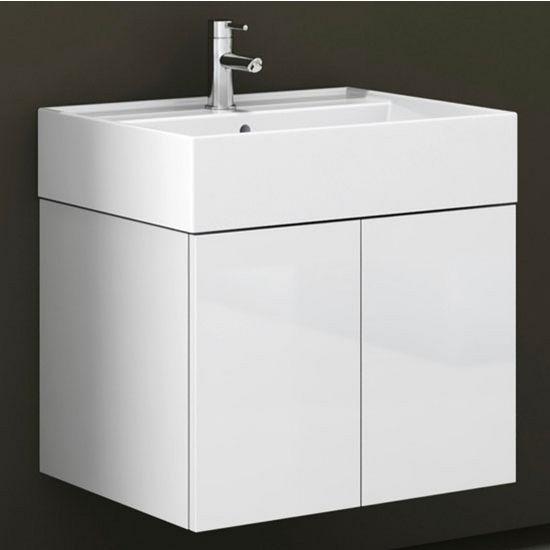 Smile Sm01 Wall Mounted Single Sink Bathroom Vanity Set Includes Main Cabinet Sink Top