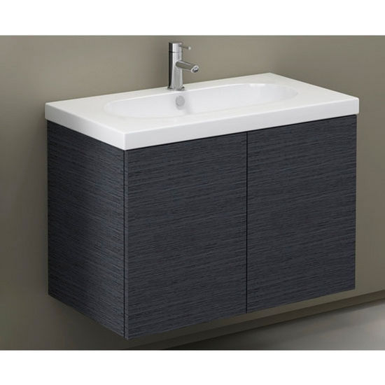 Trendy Tr02 Wall Mounted Single Sink Bathroom Vanity Set Includes Main Cabinet Sink Top