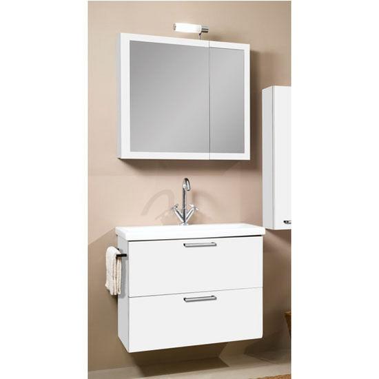 Luna L13 Wall Mounted Single Sink Bathroom Vanity Set Includes Main Cabinet Sink Top