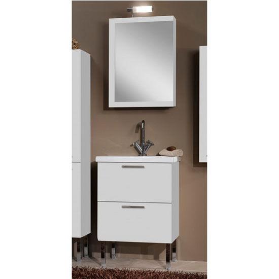 Luna L14 Wall Mounted Single Sink Bathroom Vanity Set Includes Main Cabinet Sink Top