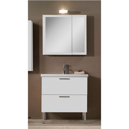 Luna L15 Wall Mounted Single Sink Bathroom Vanity Set Includes Main Cabinet Sink Top