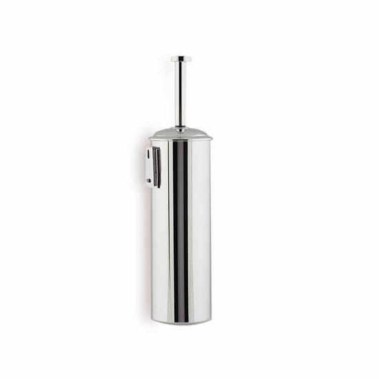 Rounded Chrome Toilet Brush Holder