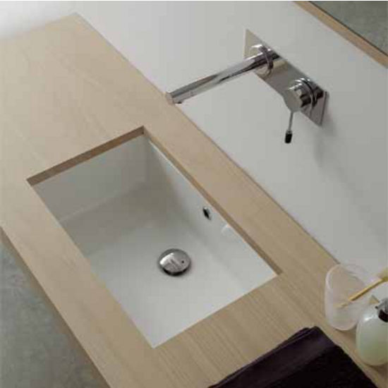 Nameeks Miky 80 Under Counter Bathroom Sink In White