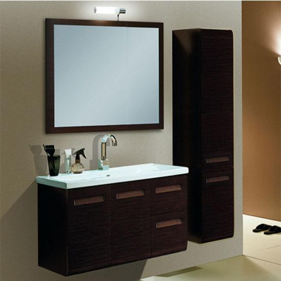 Integral Ng1 Wall Mounted Single Sink Bathroom Vanity Set Includes Main Cabinet Sink Top
