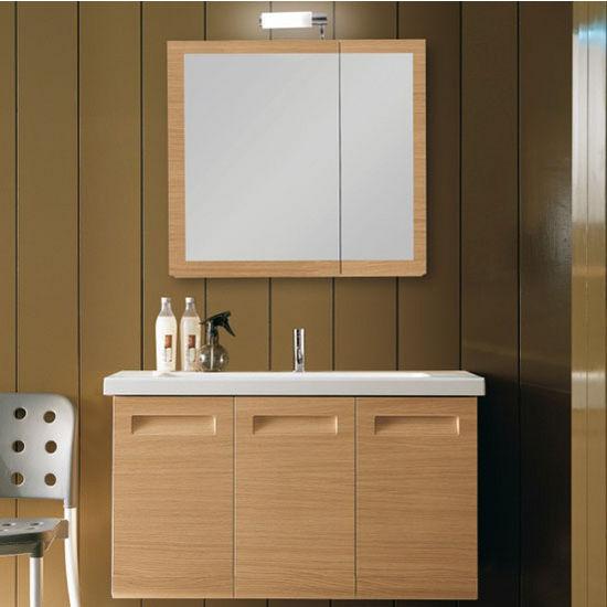 Integral Ng3 Wall Mounted Single Sink Bathroom Vanity Set Includes Main Cabinet Sink Top