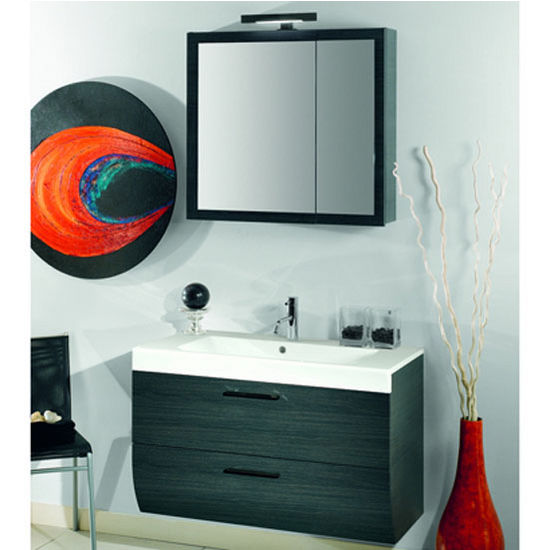 "Iotti by Nameeks New Day NN2 Wall Mounted Single Sink Bathroom Vanity Set, 38-4/5"" Wide (Includes: Main Cabinet, Sink Top, Medicine Cabinet and Vanity Light)"