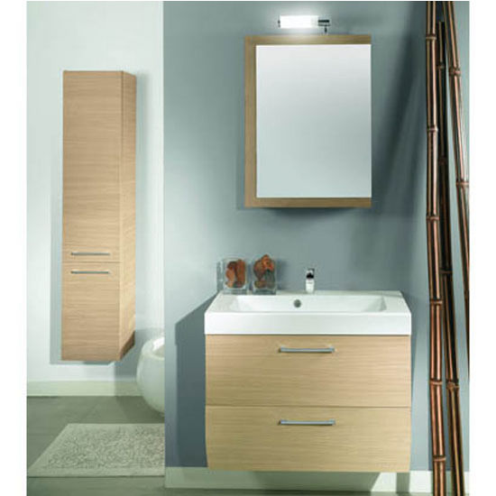 "Iotti by Nameeks New Day NN3 Wall Mounted Single Sink Bathroom Vanity Set, 30-2/5"" Wide (Includes: Main Cabinet, Sink Top, Medicine Cabinet and Vanity Light)"