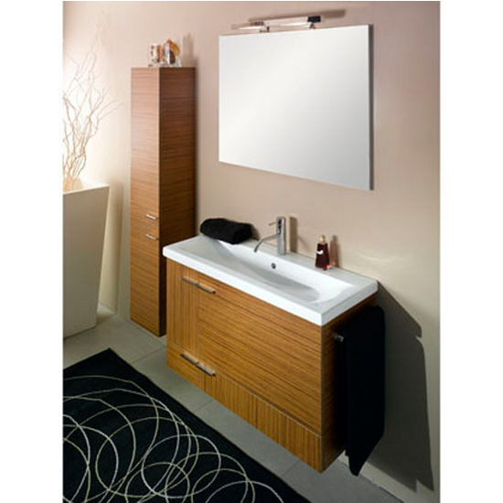 Simple Ns1 Wall Mounted Single Sink Bathroom Vanity Set Includes Main Cabinet Sink Top
