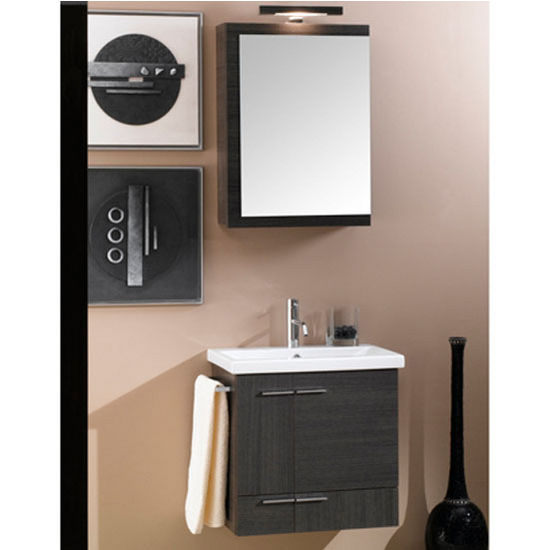 "Iotti by Nameeks Simple NS4 Wall Mounted Single Sink Bathroom Vanity Set, 22-1/2"" Wide (Includes: Main Cabinet, Sink Top, Medicine Cabinet and Vanity Light)"