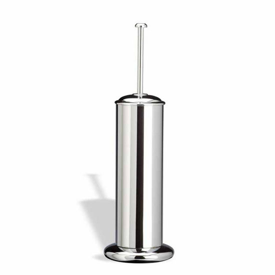 Rounded Chrome Toilet Brush Holder