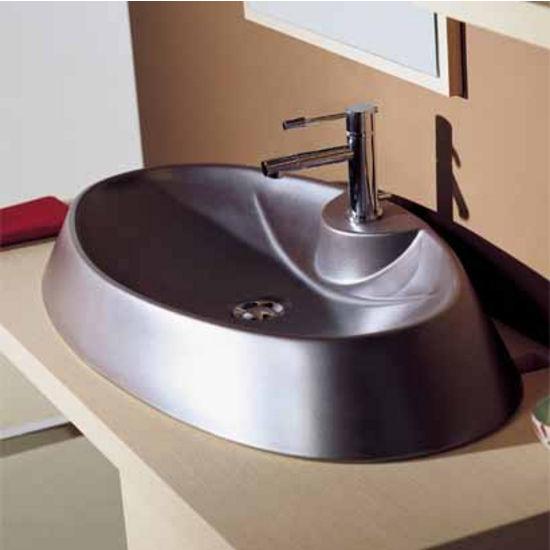 Nameeks rugby 66 r above counter bathroom sink in white for Nameeks bathroom sinks