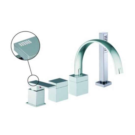 Nameeks Fima Four Holes Deck Mounted Tub Mixer With Hand Shower