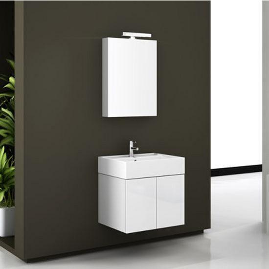 Iotti By Nameeks Smile Sm01 Wall Mounted Single Sink Bathroom Vanity In Glossy White 23
