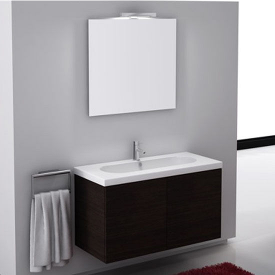 Trendy Tr03 Wall Mounted Single Sink Bathroom Vanity Set