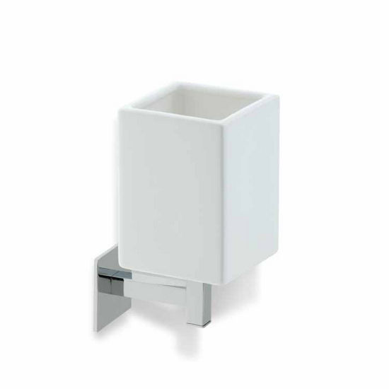 White Ceramic Toothbrush Holder