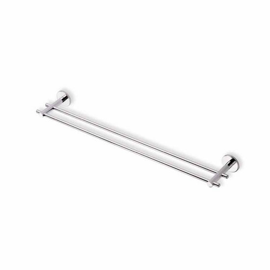 Chrome 24 Inch Double Towel Bar