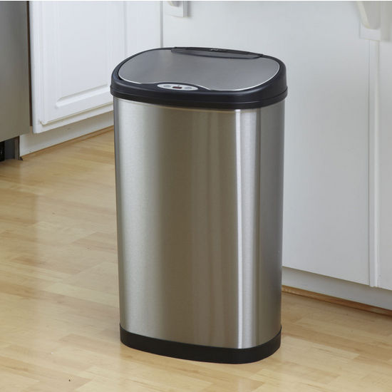Nine Stars 13.2 Gallon Stainless Steel Infrared Trash Can