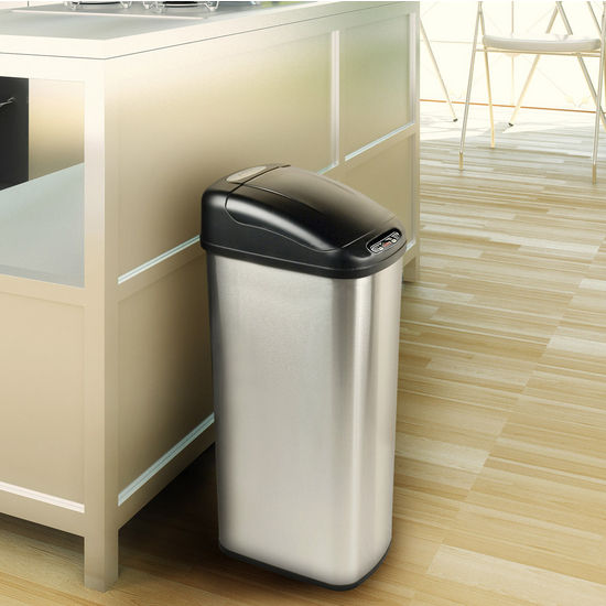 13.2-Gallon Stainless Steel Infrared Trash Can